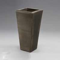"Chalon 17"" Tapered Planter - Antique Bronze"
