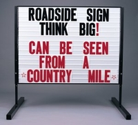 Changeable Letter Roadside Signs