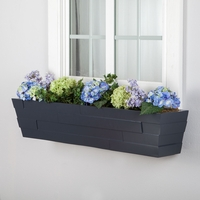 26in. Charcoal Brickton Fiberglass Window Boxes