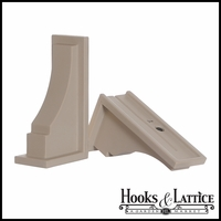 Clay Colored Prestige Window Box Brackets - (Pair)