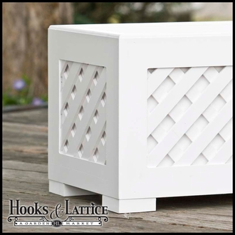 Composite Lattice Planter for Deck, Porch, or Patio