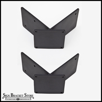Corner Mount Banner Bracket Adapter Pair | 90 Degrees (2 Sizes)