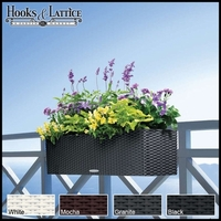 Cottage Weave Deck Rail Planter Box