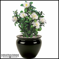 Cream Azalea Bush 18in. Indoor Artificial