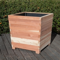 Cruz Redwood Commercial Planters with Feet