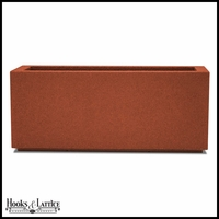 Malabar Tall Rectangular Planter with Toe Kick - Red Clay