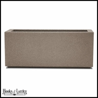 Malabar Tall Rectangular Planter with Toe Kick - Concrete Grey