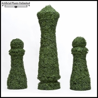 Custom Logo or Figure Boxwood Topiary Shape 18in SQ x 48in Tall, Outdoor Rated