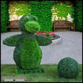 Logos, Lettering, and Custom Outdoor Artificial Topiary Plants