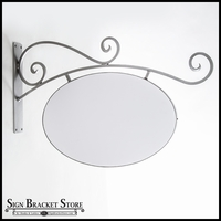 Milano Low Clearance Sign Bracket - Sign Frame and PVC Blank