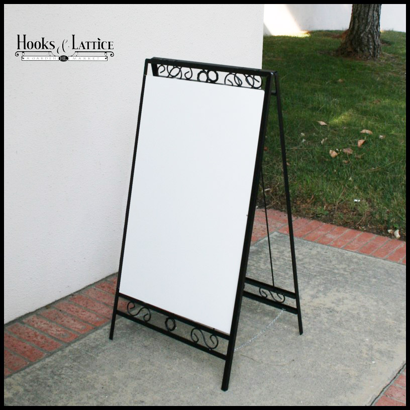 decorative a frame folding sidewalk sign