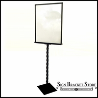 Decorative Sign Holder with a TWIST