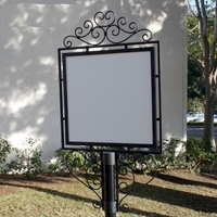 "Decorative Slip-Over Sign Holder - 18"" x 24"" - Top Only"