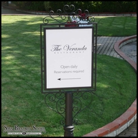 """Decorative Slip-Over Sign Holder- 24"""" x 24"""" - Top Only"""