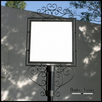 "Decorative Slip-Over Sign Holder System- 24"" x 24"""
