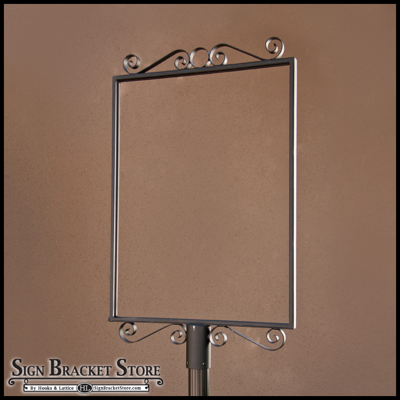 Outdoor Metal Sign Holders Amp Decorative Wrought Iron Sign