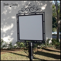 Decorative Wrought Iron Sign Holders