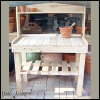 Cedar Potting Bench w/ Shelf
