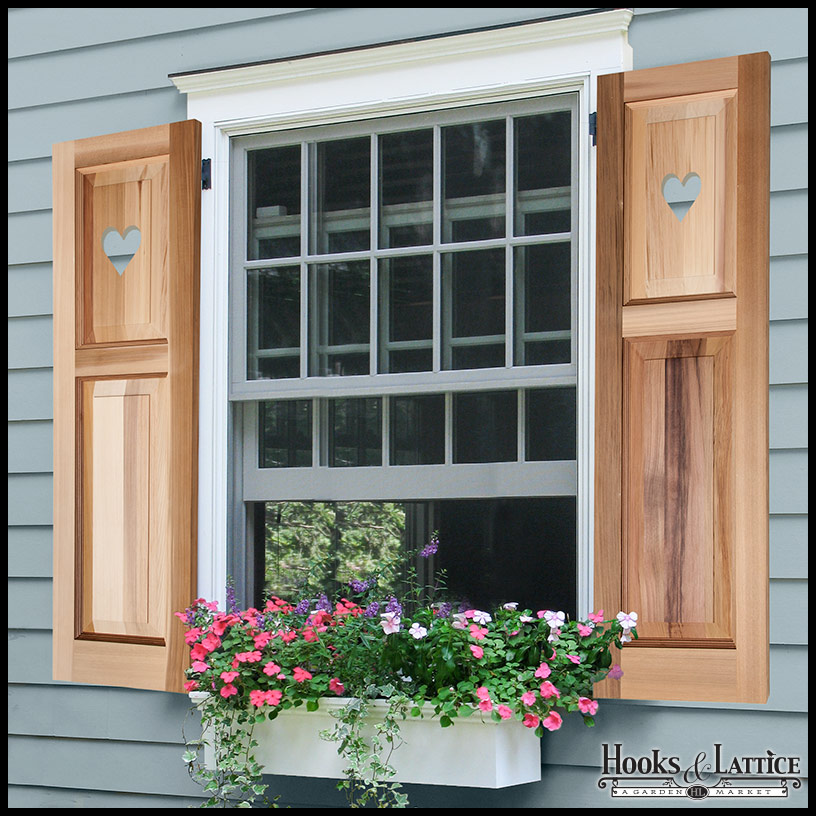 Raised Panel Exterior Shutters Wood Panel Shutters With