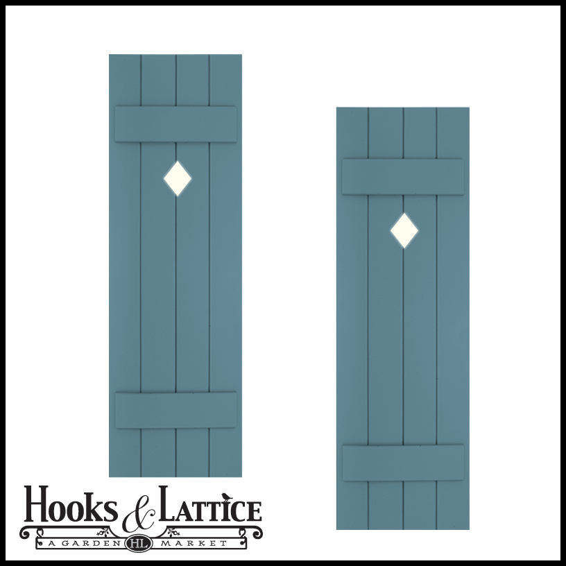 exterior shutters with cutouts