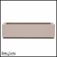 Regatta Short Trough Planter with Toe Kick - White