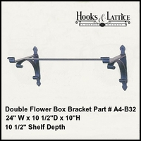 "Double Bracket- 10 1/2"" Shelf"