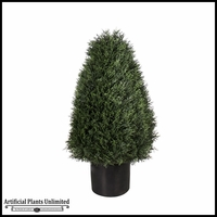 Duraleaf Cypress Cone Topiary Tree, 3 Sizes Available, Outdoor