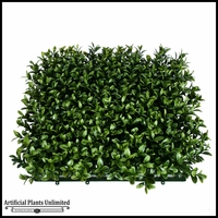 Duraleaf Plush Boxwood Living Wall 48in x 24in, Outdoor