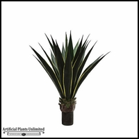 Duraleaf Unpotted Yellow/Green Agave Plant 36in