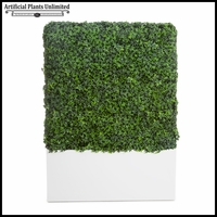 English Ivy Indoor Artificial Hedge with Modern Planter 24inL x 12inW