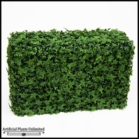 English Ivy Indoor Artificial Hedge 24inL x 12inW