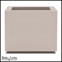Malaga Square Planter with Toe Kick - White