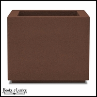 Malaga Square Planter with Toe Kick - Dark Brown