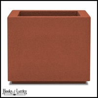 Malaga Square Planter with Toe Kick - Red Clay