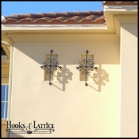 Exterior Decorative Iron Speakeasy Grill | Scroll Accents