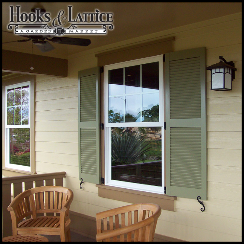 Custom Exterior Shutters Standard Window Shutters Hooks And Lattice