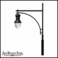 Extra Large High Output HID Luminaire Street Light - 120v Powder Coated Cast Aluminum