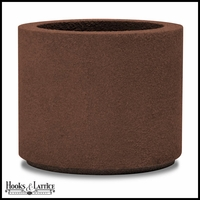 Banbridge Round Planter with Toe Kick - Dark Brown
