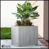 Faux Concrete / Wood Rectangular Landscape Planter