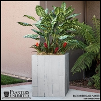 Faux Concrete / Wood Square Landscape Planter
