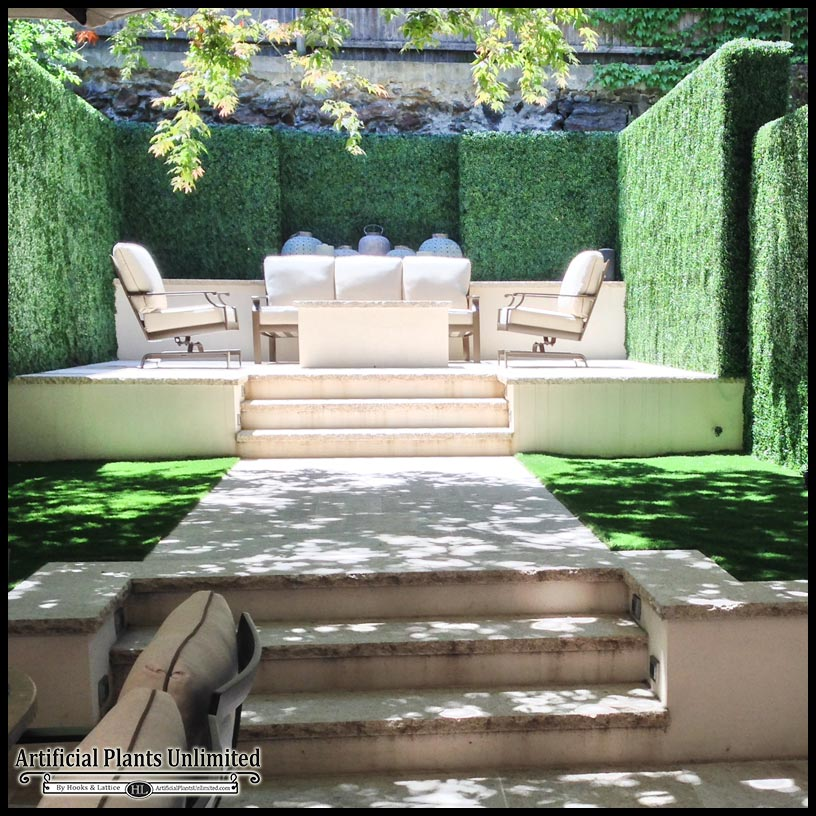Hedge Bushes: Artificial Hedges, Outdoor Artificial Boxwood Hedge