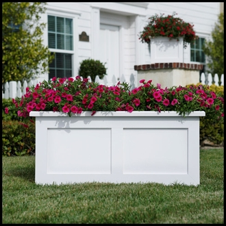 Flat Panel Premier Composite Commercial Planter 72in.L x 18in.W x 18in.H