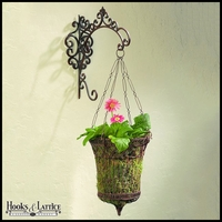 Fleur De Lis Bracket With French Wire Hanging Basket