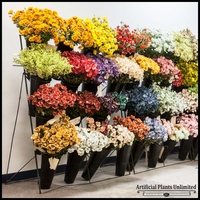 Mixed Bag of 192 Artificial Silk Flowers
