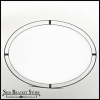 Flush Mount Double Oval Sign Frame w/ 46in. x 30in. PVC Sign Blank