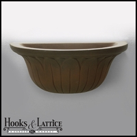 Forsythia Wall Mount Planter - Antique Bronze