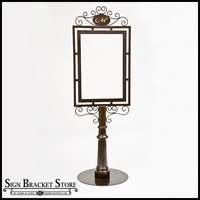 Freestanding Decorative Metal Sign Frame