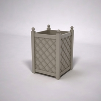 French Lattice Premier PVC Planter 30in.L x 30in.W x 42in.H