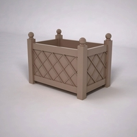 French Lattice Premier PVC Planter 36in.L x 24in.W x 24in.H