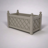 French Lattice Premier PVC Planter 48in.L x 24in.W x 24in.H